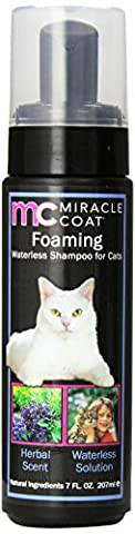 Miracle Care Miracle Coat Foaming Waterless Cat Shampoo, 7 oz