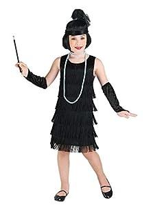 Clown Republic - Flapper elegante disfraz para niña, 83112/12, multicolor