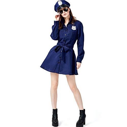 Polizistin Spiel Uniform Polizei Anzug Weibliche Polizei Spaß Halloween Cosplay Kostüm,M ()