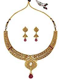 Dancing Girl Bridal Wedding Jewellery Rani Green Copper Alloy Necklace Sets Jewellery Sets For Women Girls
