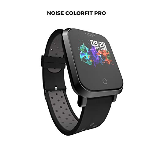 Noise ColorFit Pro Fitness Watch/Smart Watch/Activity Tracker/Fitness Band with Colored Display Waterproof, Heart Rate Sensor, Call & Notification Alert with Music Control Features (Sport Grey Black)