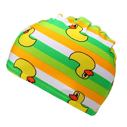 Sanahy wasserdichte Kinder Badekappe Atmungsaktive Ohr Wrap Schutz Kinder Schwimmen Hut mit PU Beschichtung Cartoon-Muster
