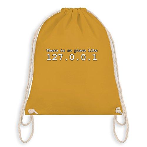 Shirtracer Programmierer - There is no place like 127.0.0.1 - Unisize - Senfgelb - WM110 - Turnbeutel & Gym Bag