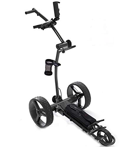 Caddy1 Elektro Golf Trolley 700 in Dunkelgrau mit 2 x 250 W Motor Lithium Akku