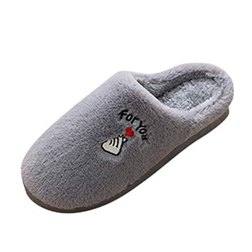 Sanahy Man Slippers In Memory Foam warme Wolle mit hoher Dichte für den Innen- und Außenbereich als Innenfutter Anti-Rutsch-Slipper