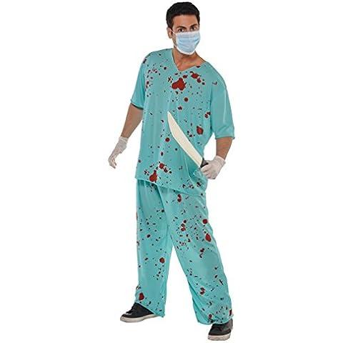 Amscan International Disfraz de enfermero de quirófano sanguinario, para adultos, unisex