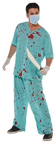 Adults Bloody Unisex Scrubs Surgeon Costume