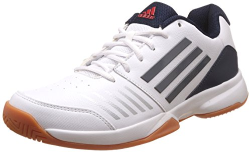 adidas Men's All Court Indoor White, Visgre and Scarle Basketball Shoes - 7 UK/India (40.7 EU)