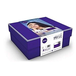 NIVEA Pack Hyalurron Cellular Filler Crema Antiedad Día FP30 y Crema Noche – Cofre