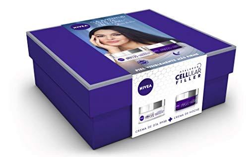 Nivea Pack Hyalurron Cellular Filler Crema Antiedad Día FP30 y Crema Noche - Cofre