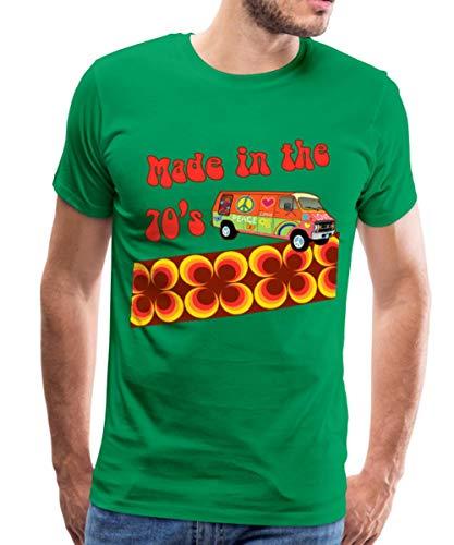Spreadshirt Made in The 70's Retro Siebziger Männer Premium T-Shirt, M, Kelly Green - 70er-jahre-kelly-grün