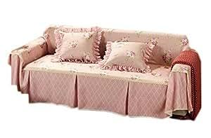 rose mignon trois places canap housse 215 par 300cm cuisine maison. Black Bedroom Furniture Sets. Home Design Ideas