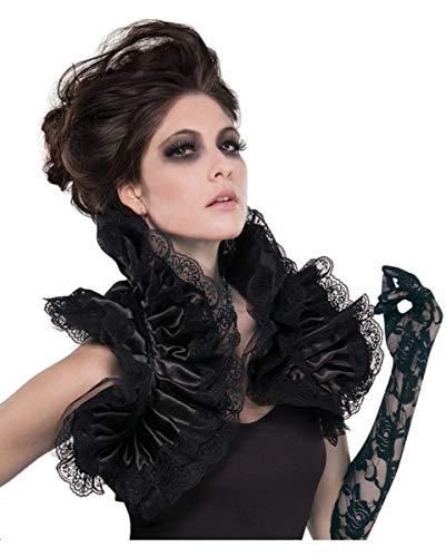 Horror-Shop Gothic Vampir Rüschenweste Bolero mit Spitze