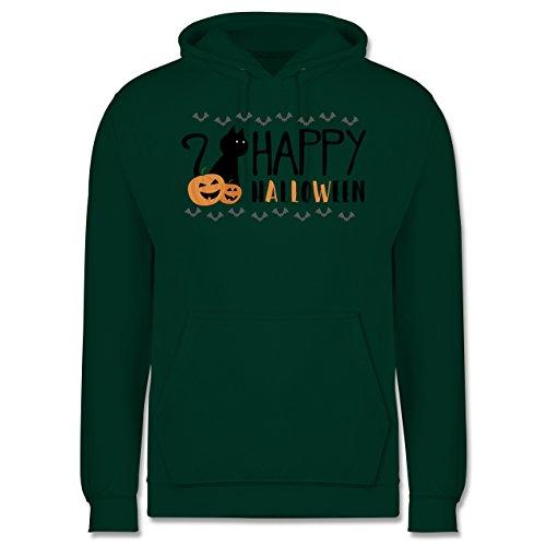 Halloween - Happy Halloween - Männer Premium Kapuzenpullover / Hoodie Dunkelgrün