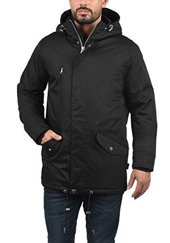 INDICODE Vancouver Herren Winterjacke Jacke mit Kapuze aus hochwertiger  Baumwollmischung Black (999) ...