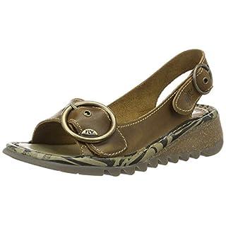 Fly London Women's TRAM723FLY Heels Sandals, Brown (Camel 002), 6 UK 39 EU