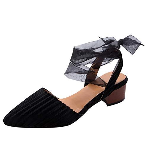 Scarpe Sandali Donna con Tacco Bassi Zeppa Eleganti Estivi Scarpe Stringate, Traspiranti, Casual A Fondo Piatto