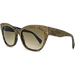 Alexander McQueen Cateye Sonnenbrillen in dunklen Havanna Gold AMQ 4261/S OFN 55