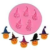 1 Pc silicone Zucca di Halloween con Capo Bakery muffa del biscotto della muffa del cioccolato