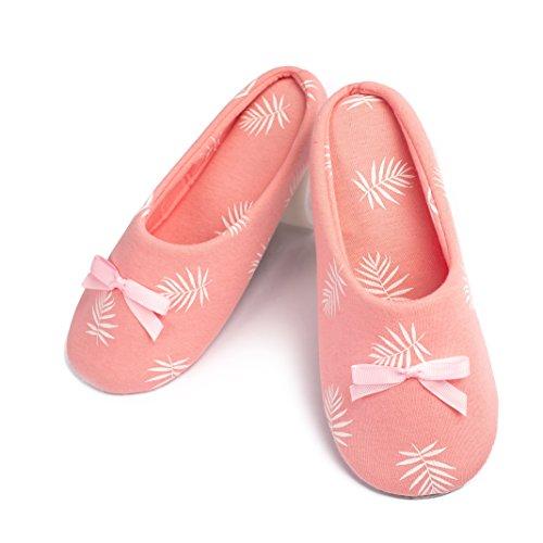 TWINS Fashion « Florence » schöne & süße Damen-Hausschuhe I Ballerinas I Pantoffeln I Slippers - Plüsch Baumwolle rutschfest - diverse Farben (38/39, Rosa)