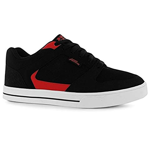 No Fear Mens Shift Skate Trainers Lace Up Perforated Reinforced Toe Cap Shoes Black/Red UK 10 (44)