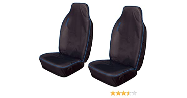 2 x Fronts Heavy Duty Black Pair Waterproof Car Front Seat Covers Protectors For Skoda Octavia