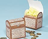 6 Medium Printed Treasure Chest Favour Boxes   Kids Party Lunch Picnic Box