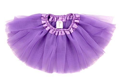 Dance Kostüme 80's (Dancina Baby und Neugeborenen Tüllrock Tutu Lavendel 6-24)