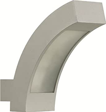 KNIGHTSBRIDGE GD1250166 - 3W LED Wall Mounted With Vertical Curve Garden Light