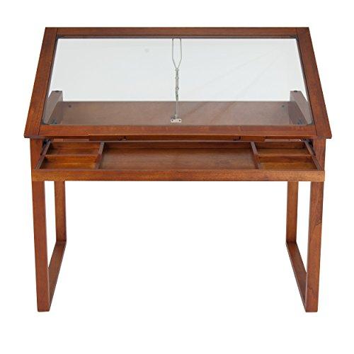 Affordable Studio Designs Ponderosa Table, Glass/Wood, Brown Reviews