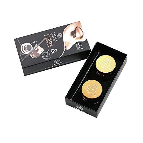 SCEMARK Damen Eyeliner Augenbrauen puder Grenzüberschreitende heißer Verkauf Quelle/Music Flower M1096 Schwarzbrauner Eyeliner + Augenbraue