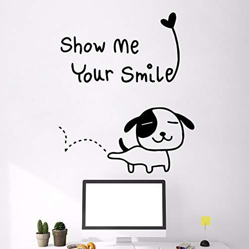 NEU Zeigen Sie Mir Ihr Lächeln Hauptdekoration-Zusätze für Wohnzimmer-Schlafzimmer-Wand-Kunst-Aufkleber Murals-87x75cm