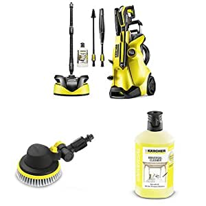 Kärcher K4 Full Control Home Pressure Washer with Rotating Brush and universal Detergent 1L