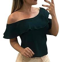 Blusas para Mujer,PANPANY Moda T-Shirts de Atractivas Camisas Hombro Blusa Ahuecan Tops