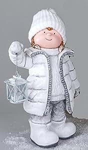 Formano winterkind enfant fille avec lanterne décorative de magnésie 763297 hiver