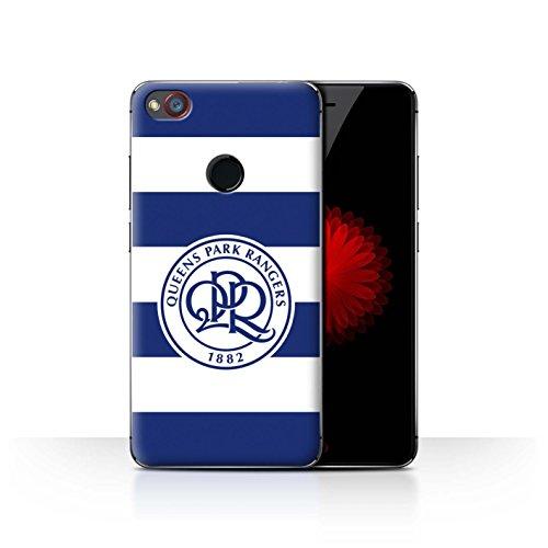 Offiziell Queens Park Rangers FC Hülle / Case für ZTE Nubia Z11 Mini / Hoops/Marineblau Muster / QPR Fußball Crest Kollektion