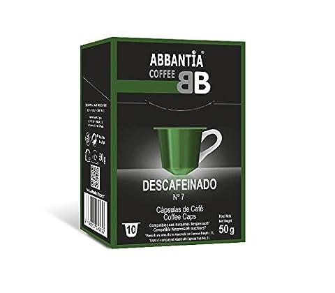 Café décaféiné 120 capsules compatibles avec Nespresso Abbantia