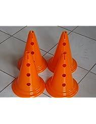 Grande/juegos conos de entrenamiento deportivo jadella 4 34 cm/33,02 cm 7 - 1 juego=4 colores conos Naranja naranja