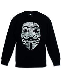 Urban Backwoods Guy Fawkes Mask Vintage Kids Enfants Garçon Fille Pullover  Sweat-Shirt - V for Wie Anonymous Vendetta Maske UK Kids… 81a17b4125fa
