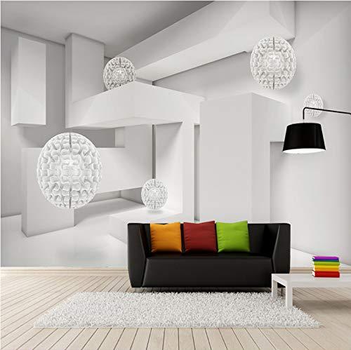VVBIHUAING 3D Wand Wandbilder Tapete Aufkleber Dekorationen Moderner Minimalistischer Kugelförmiger Raum Hintergrund Dekoration Kunst Kinder Zimmer (W) 200x(H) 140cm