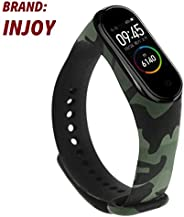 injoy Camouflage Printing Silica Gel Wristband Band Strap for Xiaomi Mi Band 4 green