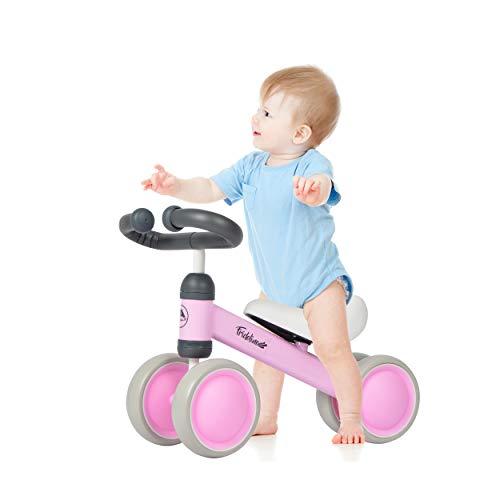Apollo Laufrad Fridolino, Rutscher-Fahrzeug mit Vier Rädern für Kinder von 1-3 Jahre , Push Bike für Jungen und Mädchen - Komplett Gepolstert Metallrahmen