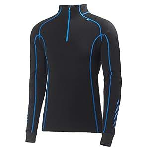 Helly Hansen Men's Warm Freeze 1/2 Zip Base Layer Top XXX-Large Black/Cobalt Blue