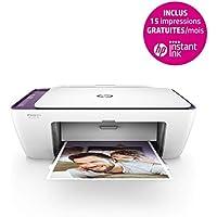 HP Deskjet 2634 Imprimante Multifonction Jet d'encre Couleur (7,5 ppm, 4800 x 1200 PPP, WiFi, Impression Mobile, USB) - 3 mois d'Instant Ink Gratuits