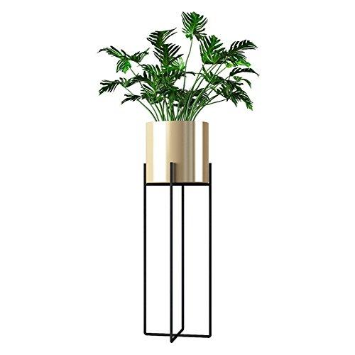 TongN Flower Stand Nordic Eisen Boden stehend Cross Modern Minimalist Grünpflanzen Blumentopf Rack für Balkon, Wohnzimmer (Color : Gold, Size : L)