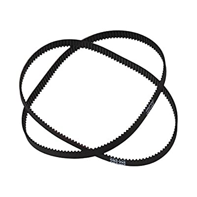 BQLZR 280-2GT Black 11 Inch Length Timing Belt Annular Loop Rubber 6mm Width 2mm Pitch Close End Geared Belt Pack of 2