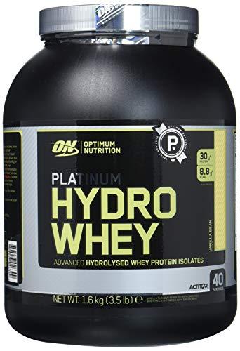Optimum Nutrition Hydro Whey Protein Isolat Pulver (mit essentiellen Aminosäuren, Glutamin und BCAA. Eiweisspulver von ON) Vanilla, 40 Portionen, 1,6kg