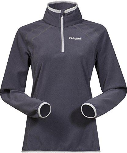 Bergans Damen Ombo Half Zip Fleecepullover, Night Blue/Aluminium/Solid Dark Grey, XS