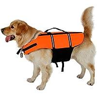 Chaleco salvavidas para perro, correas ajustables con zona reflectante, chaleco salvavidas para perro con