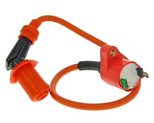 Roller Tuning Racing Zündspule 2 Pins inkl. Kerzenstecker - High Output bei 50-125 CCM (5-137) (2-takt-zündung)